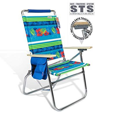 690grand Deluxe 18 Inches High Seat Beach Chair Big Tycoon Recline Cup Holder Padded Shoulder Strap Ultimate Outdoor Patio Beach Chairs Camping Chairs Chair