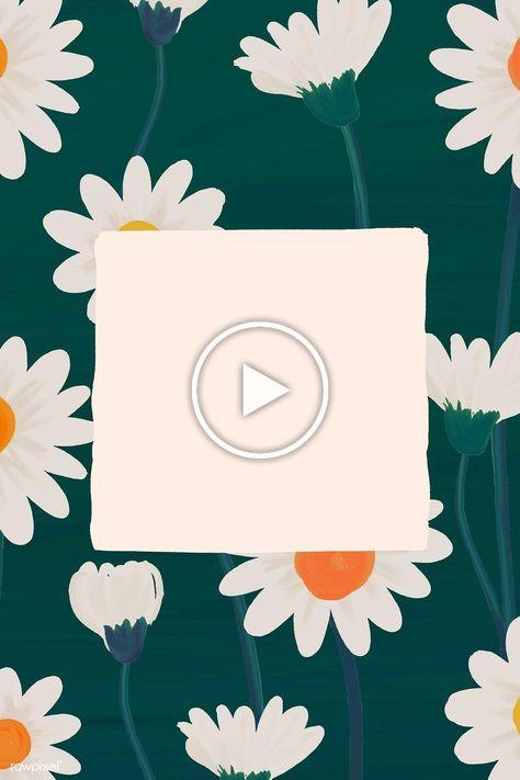 Rectangle daisy frame vector | premium image by rawpixel.com / manotang #vector #vectorart #digitalpainting #digitalartist #garphicdesign #sketch #digitaldrawing #doodle #illustrator #digitalillustration #modernart #frame
