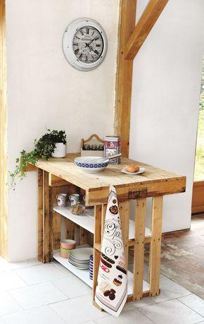 Isola cucina fai da te: riciclo creativo bancali Un mobile ...