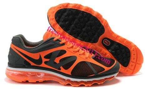 more photos 8dbe6 84412 Mens Nike Air Max 2012 Black Orange Shoes