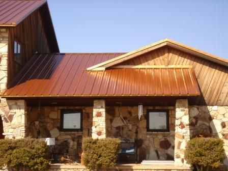 Copper Colored Metal Roof Metal Roof Houses Craftsman Exterior House Roof