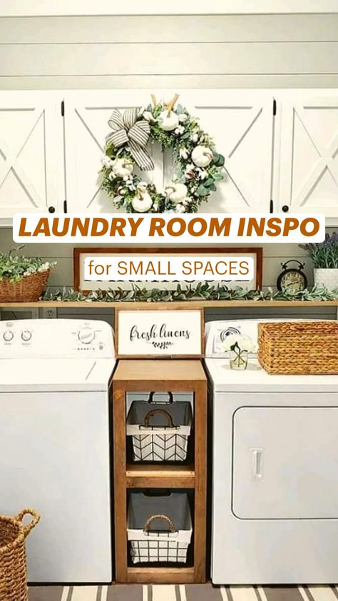 LAUNDRY ROOM INSPO for Small Spaces