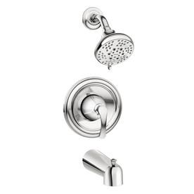 Moen Tiffin Chrome 1 Handle Bathtub And Shower Faucet With Valve