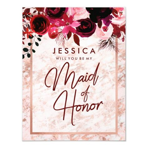 #promo Rose Gold Marble Will You Be My Maid of Honor Invitation #be #my #maid #of #honor #Invitation #weddingparty #bridalparty #proposalcards #bridesmaidproposal #maidofhonorproposal #weddingcards #zazzle #weddingpartyproposal