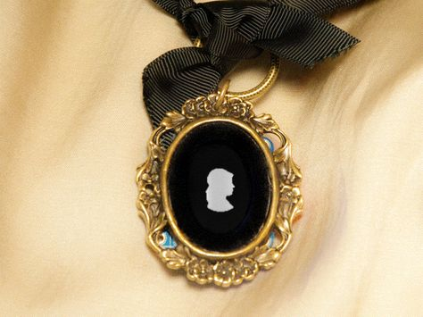 Steampunk Cameo Necklace with OLED Display