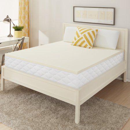 Dream Serenity Memory Foam 1 5 Inch Comfort Support Mattress Topper 1 Each White Mattress Topper Bedroom Makeover Mattress