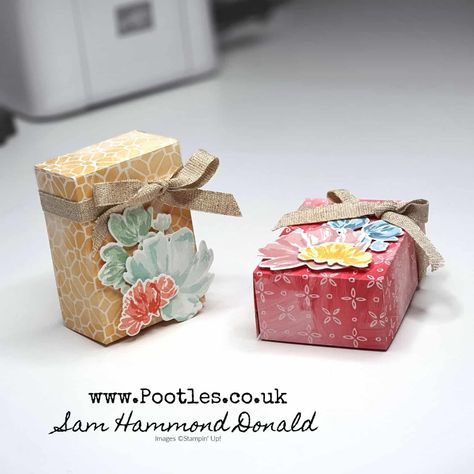 #1 Stampin' Up! UK Demonstrator Pootles – Fine Art Floral Fold Over Box Tutorial