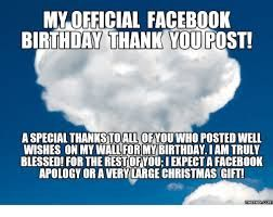Official Fb Birthday Thank You Post Thank You For Birthday Wishes Funny Birthday Pictures Facebook Birthday
