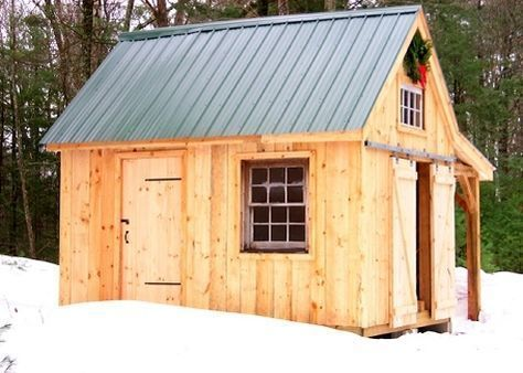 10 X 14 Timber Frame Shed By William Cullina Poleshedplan Shed Plans Building A Shed Barns Sheds