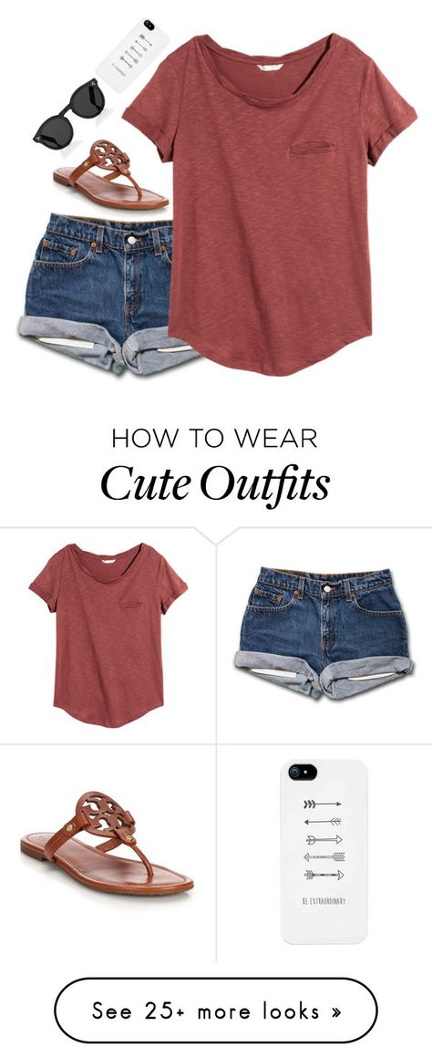 """""""Comment your GO TO outfit!"""" by emmaintn on Polyvore featuring H&M, Tory Burch and Illesteva"""