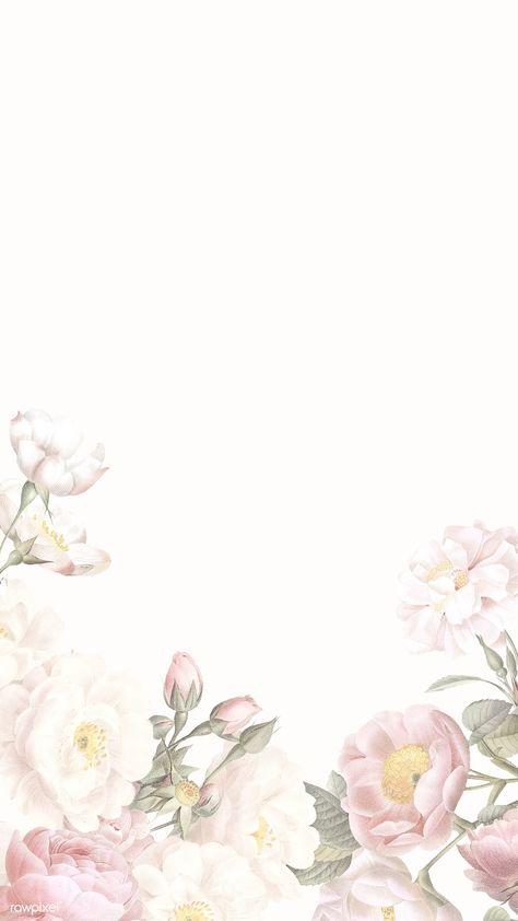 Blank elegant floral frame design | premium image by rawpixel.com / manotang