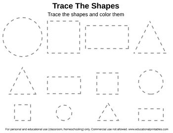 Free Tracing Shapes Worksheet Free Preschool Worksheets Shapes