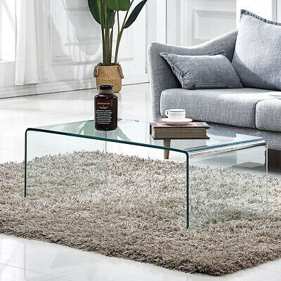 Details About Glass Coffee Table Square End Console Table Side End