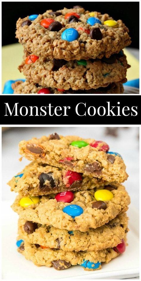 The Best Monster Cookies recipe from RecipeGirl.com #monster #cookies #recipe #RecipeGirl #baking #best #cookie