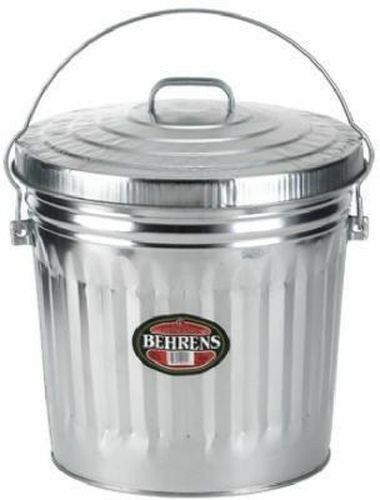 New Belhrens 6110 10 Gallon Galvanized Garbage Trash Can Lid Usa Sale 6231500 Trash Cans Ideas Of T In 2020 Kitchen Trash Cans Galvanized Steel Dog Food Storage