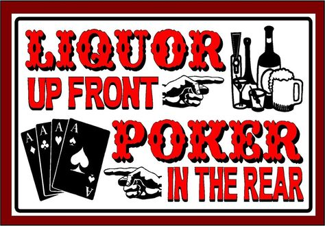 Poker Addict Novelty Funny Metal Sign 8 in x 12 in