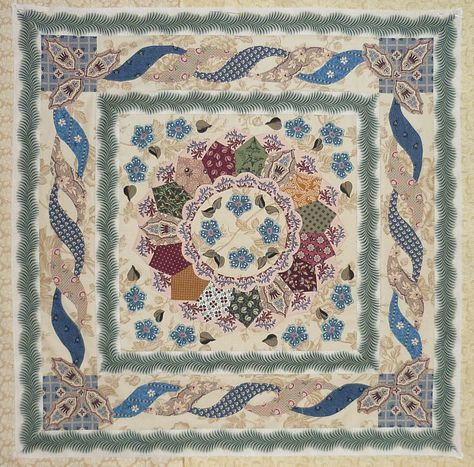 Love that sashing fabric! Sutton Grange by Di Ford ~ Dorothy's threads of life