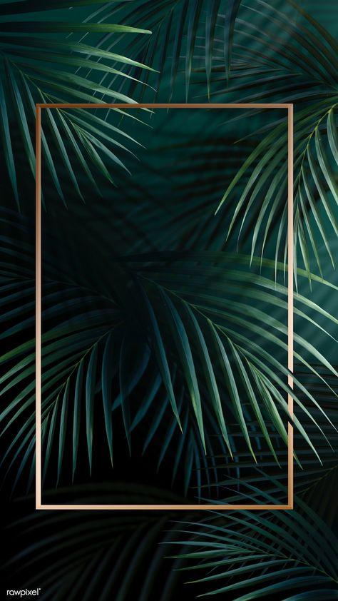 Rectangle golden frame on a tropical background | premium image by rawpixel.com / Adj / HwangMangjoo