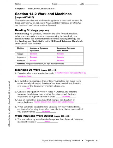 8 Pearson Education Physical Science Worksheet Answers Science