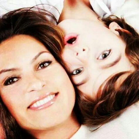 Mariska Hargitay and son August,  who looks a LOT his Grandma!!!