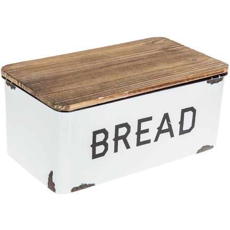 Get White Enamel Bread Box online or find other Kitchen & Dining Accessories products from Interior Modern, Home Interior, Interior Ideas, Interior Design, Farmhouse Kitchen Decor, Country Kitchen, Kitchen Dining, Farmhouse Style, Cozy Kitchen