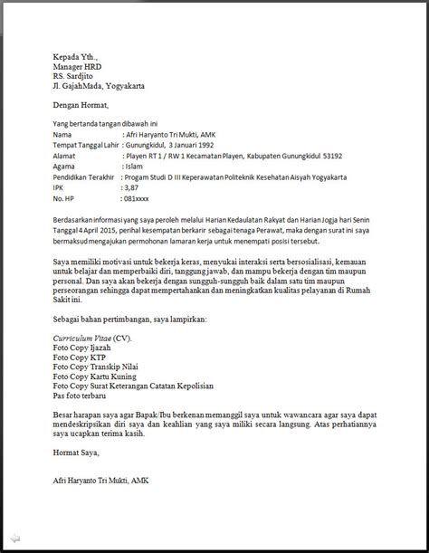 Contoh Surat Lamaran Rumah Sakit Bidan Contoh Surat Lama