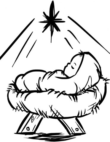 Baby Jesus Coloring Page Jesus Coloring Pages Christmas Coloring Pages Easy Christmas Drawings