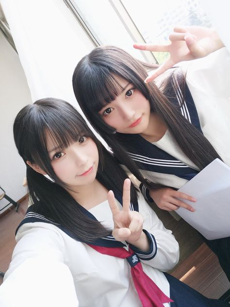 ツインテールと姫カット(ღゝ◡╹)ノ♡