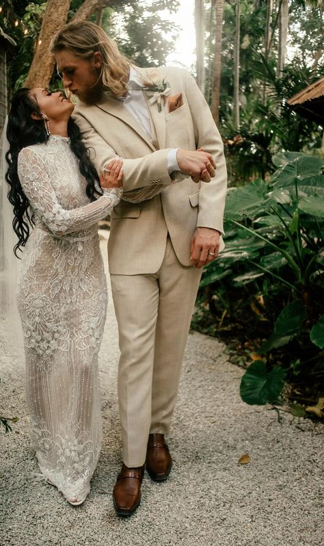 Athlete Michael Kopech and Vanessa Morgan, who stars on Riverdale, reveal their stunning wedding photos and official video exclusively to The Knot. Wedding Suits, Wedding Attire, Wedding Bride, Wedding Dresses, Wedding Reception, Farm Wedding, Wedding Couples, Tie The Knot Wedding, Wedding Aisles