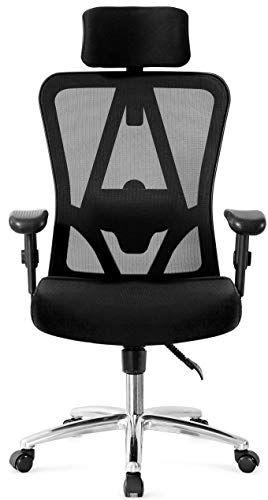 Ticova Ergonomic Office Chair With Adjustable Headrest Armrest And Lumbar Support High Back Mesh Office Cha In 2020 Computer Desk Chair Office Chair Ergonomic Chair