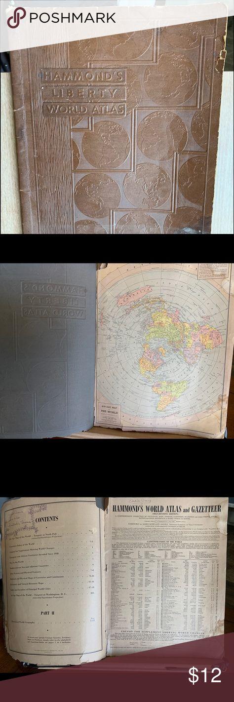 1943 Hammond's Liberty World Atlas War Time Map 1943 Hammond Hammond's Liberty World Atlas War Time Map Antique 1943 Hammonds Other