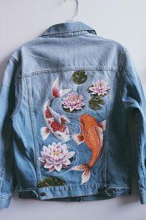jean jacket Bohemian style denim jackets....