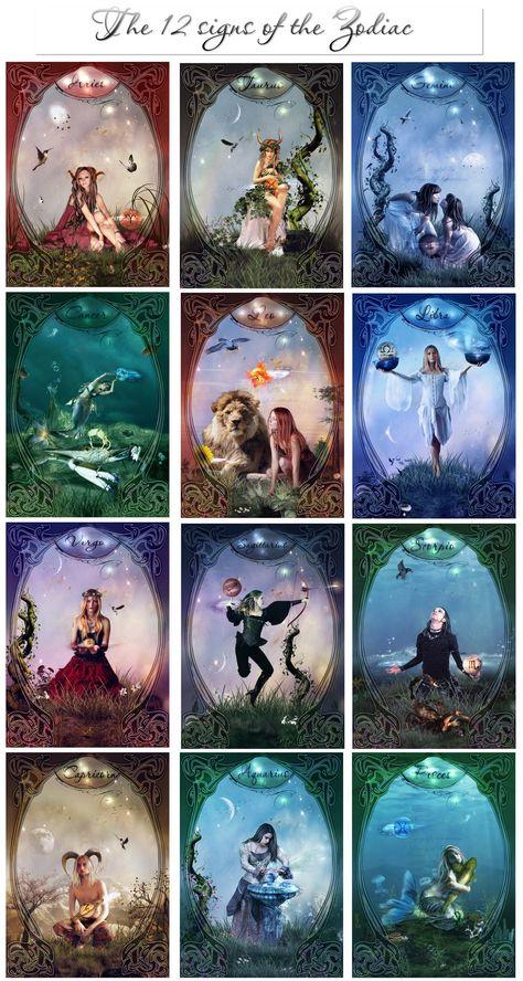 zodiac art | the 12 signs of the zodiac by azurylipfe digital art mixed media ...