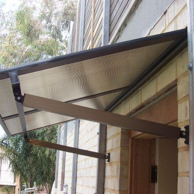 Polycarbonate And Aluminium Window Awning Sydney Over Sliding Door House Awnings Window Awnings Awning Over Door