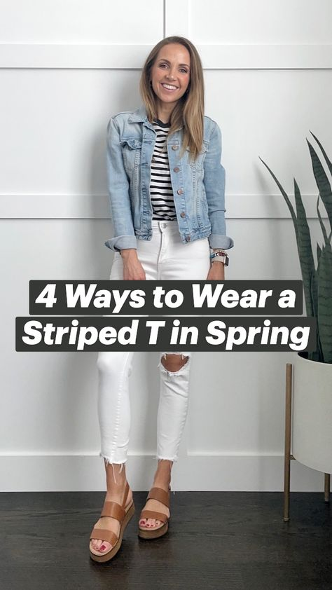 4 Ways to Wear a Striped T-Shirt in Spring