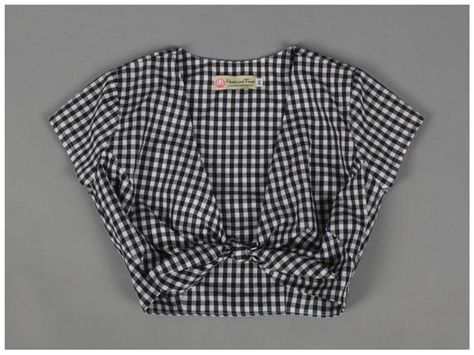 Joan Top Only 1/4th Small Black/White Checkered Gingham Fabric