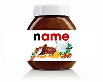 Etsy Your Place To Buy And Sell All Things Handmade Nutella Personalised Nutella Jar Nutella Jar