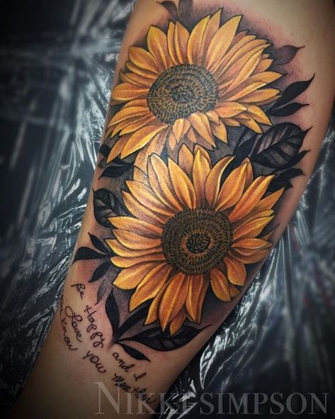 Please check more!! Awesome 5 Reasons Why People Love Sunflower Tattoo Photos | sunflower tattoo photos