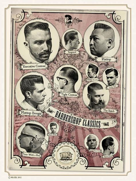 Greaser hairstyle different styles