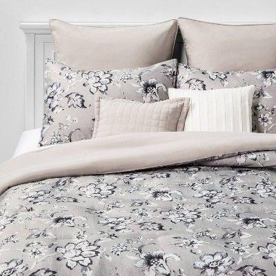Queen Leah Floral 8pc Bed Set Neutral Bedding Sets Boys Crib