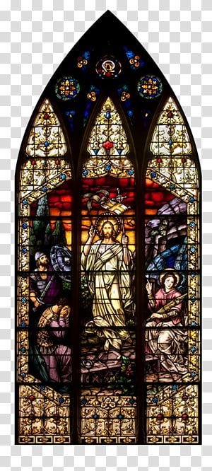 Stained Glass Gothic Architecture Material Glass Transparent Background Png Clipart Catholic Church Stained Glass Stained Glass Window Stained