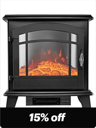 Portable Electric Fireplace Stove 24 In H Space Heater With Realistic Flame Traditional Electr In 2020 With Images Portable Electric Fireplace Stove Fireplace Electric Fireplace