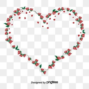 Romantic Red Roses Border Red Rose Clipart Free Material Material Png Transparent Clipart Image And Psd File For Free Download In 2021 Red Glitter Background Red Roses Background Flower Clipart