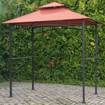 12 Ft W X 12 Ft D Solid Wood Patio Gazebo In 2020 Grill Gazebo Patio Gazebo Outdoor