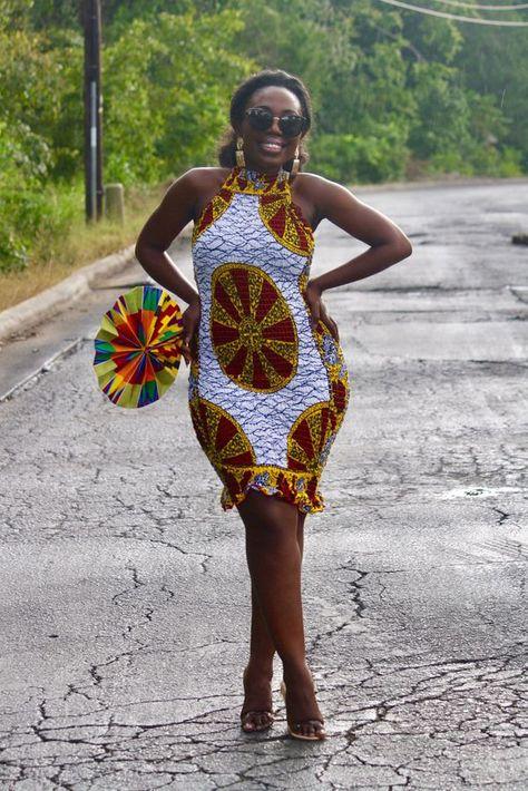 Women's Africa Print Dress