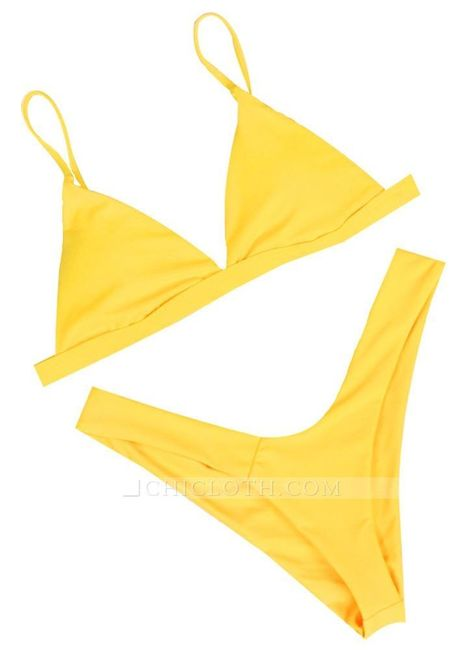Sale yellow l Women Thong Sexy Bikini Set Spaghetti Strap Two Piece Swimsuit Solid Bathing Suit from Chicloth. Best affordable Sexy Bikinis online store, cheap discounts are waiting for you.