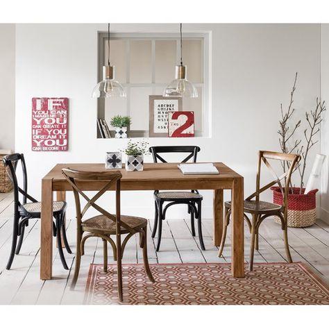 Table massif 10 pin salle allonges couvertsLunja de 2 6 à 54Aq3RjL