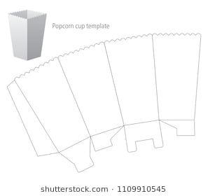 Free Printable Popcorn Box Template Scatola Fai Da Te Idee Per