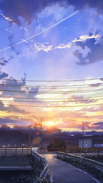 Anime Sunrise Scenery Sky Clouds 4k Click Image For Hd Mobile And Desktop Wallpaper 3840x2160 192 Anime Wallpaper Phone Anime Wallpaper Download Clouds
