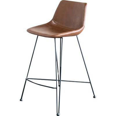 Gingko Home Furnishings Odette 25 Bar Stool Upholstery Brown